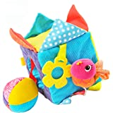 Beautiful Valley Toddler Development Toys, Soft Activity Cube, Educational Baby Toy