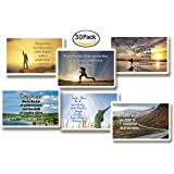 NewEights Inspirational Quotes Postcards Cards (30 Pack) Bulk Collection & Gift wih Inspirational , Motivational ,Encouragement Messages
