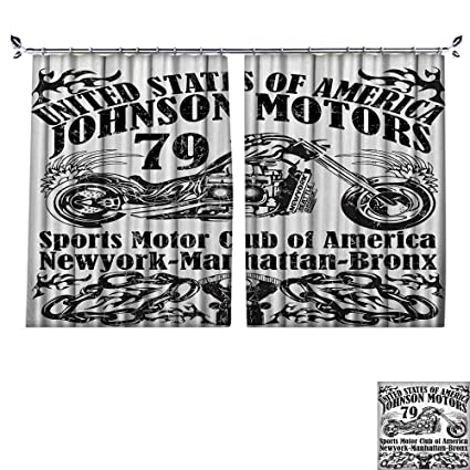 DESPKON Shading Pure Color Modern Minimalist Style USA Johns Motors Sports Motor Club New York Historic