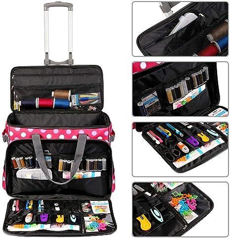 biteatey Red Dot Sewing Machine Trolley Bag Bolsa de máquina de ...