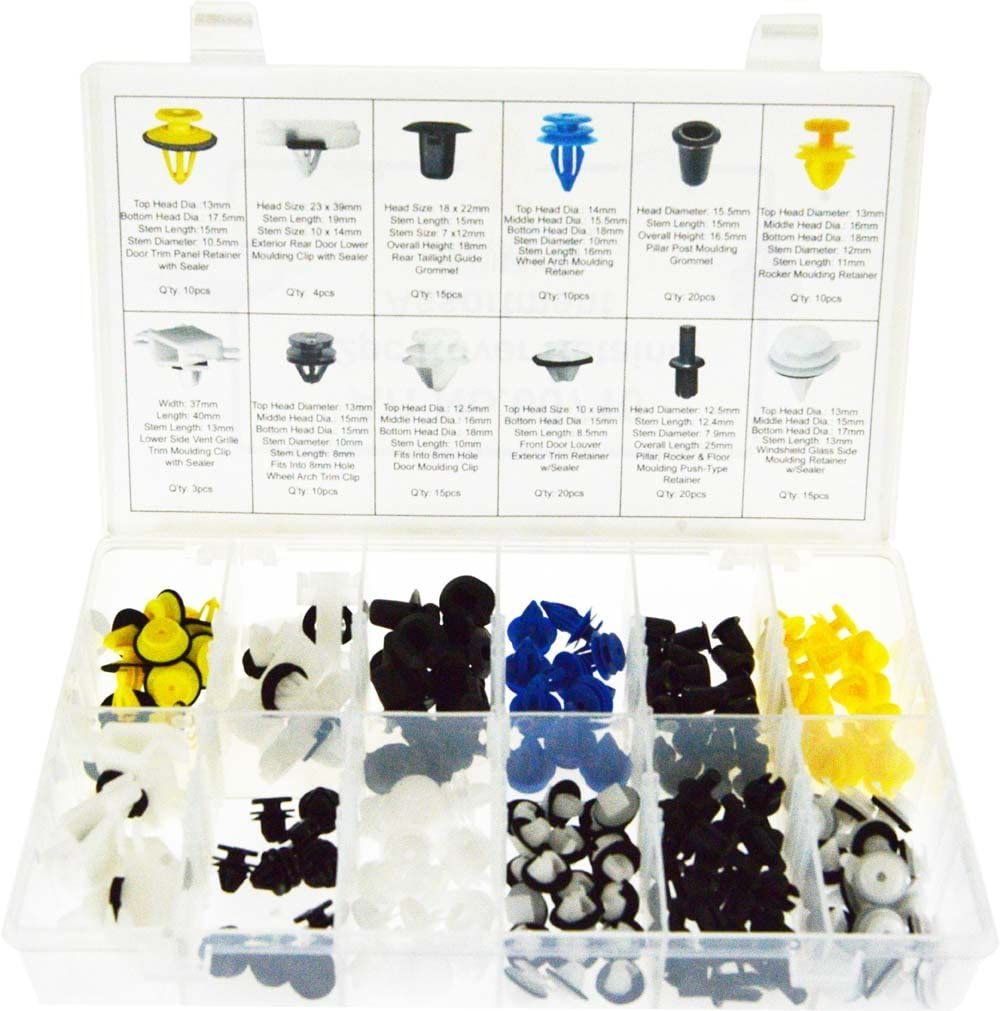 SWORDFISH 60710 152pc Auto Body Interior and Exterior Retainer Fastener Clip Assortment for Land Rover