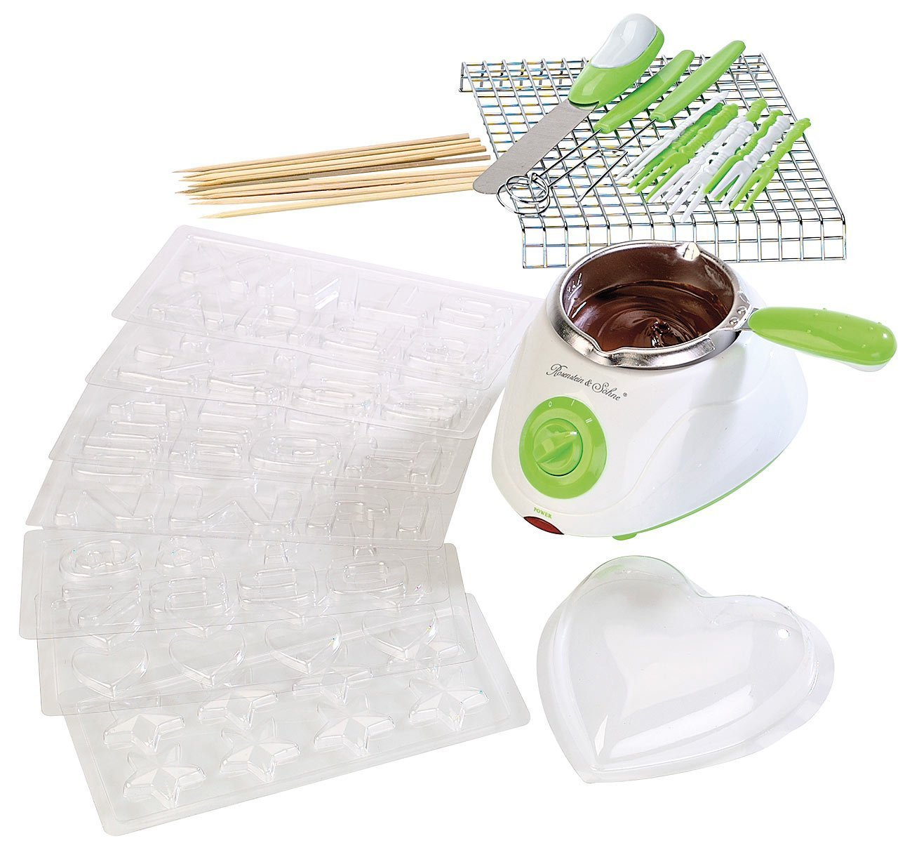 MostroMania - Set per Fonduta di Cioccolato con Accessori - Macchina Sciogli-Cioccolato - Cioccolatiera Elettrica per Fondute e Praline - Accessori da Cucina - Accessori per Dolci Monsterzeug