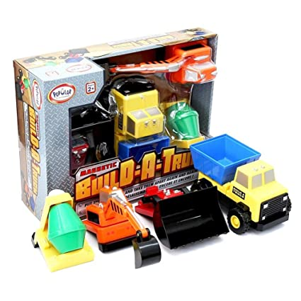 Build A Truck >> Amazon Com Popular Playthings Mix Or Match Build A Truck