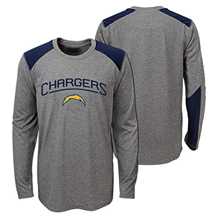 548f7bdc Amazon.com : Outerstuff Los Angeles Chargers NFL Youth's Grey Half ...