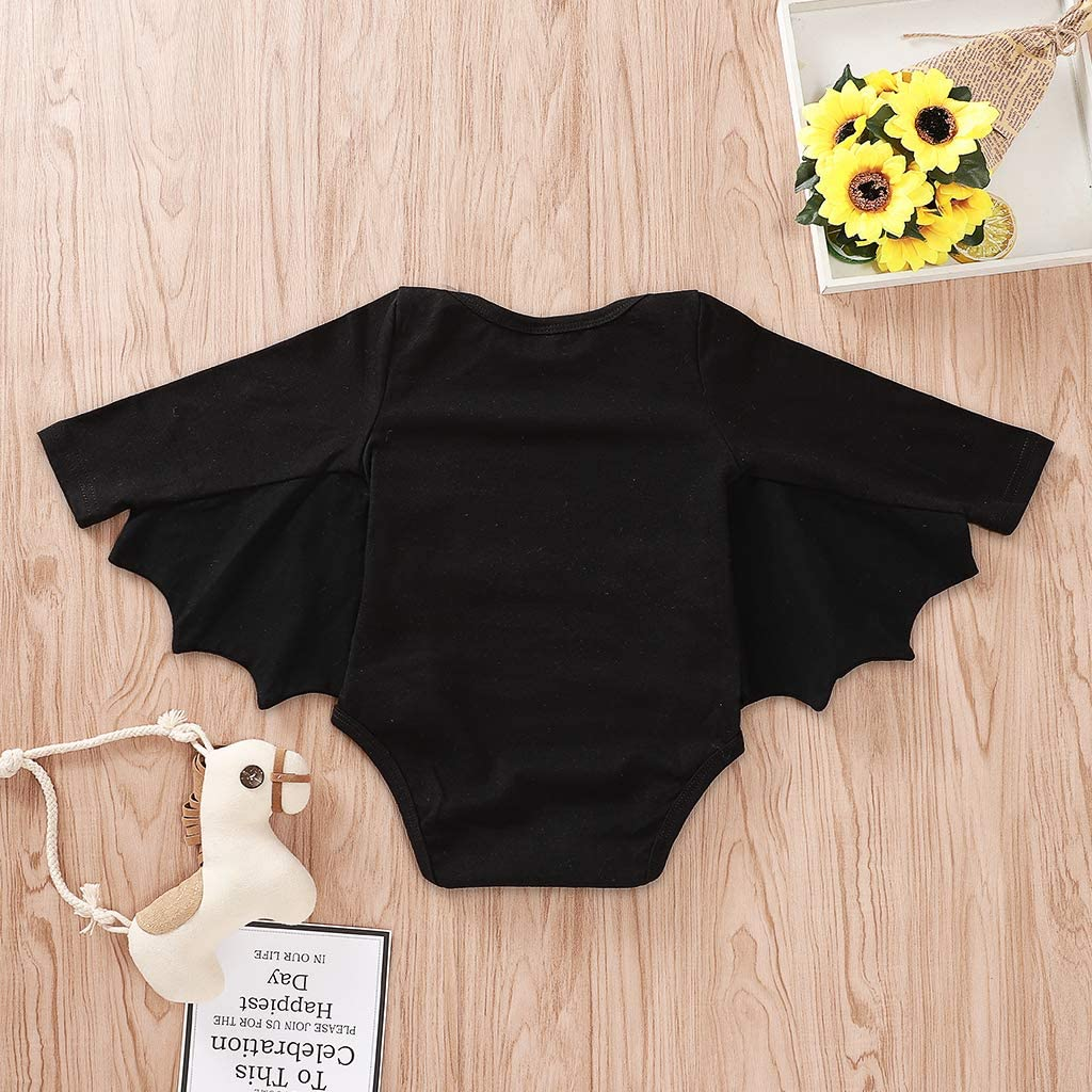 BELS Baby Girl Boy Clothes Black Bat Costume Cloak Romper with Hat Outfit