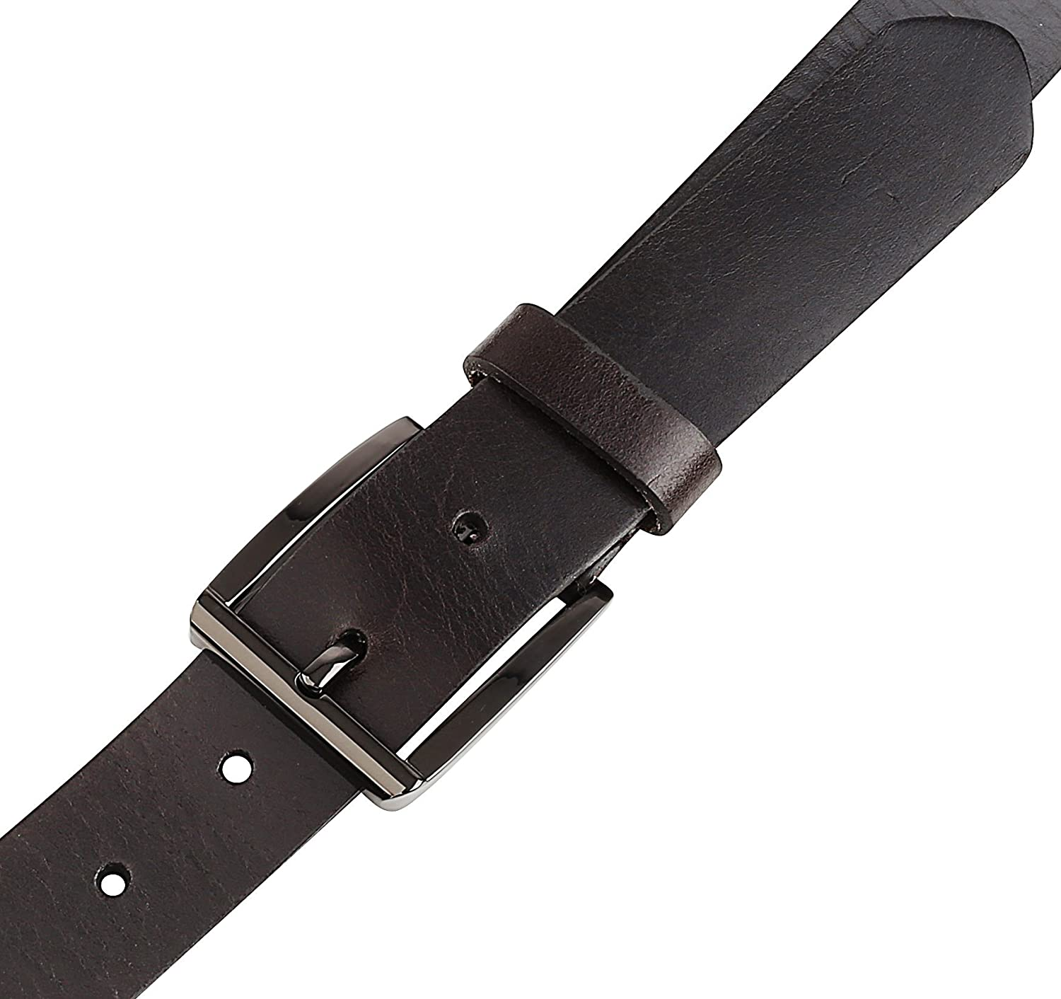"Men/'s Casual Full Grain Classic Leather Dress Belt For Jeans,1.25/"" Wide USA"
