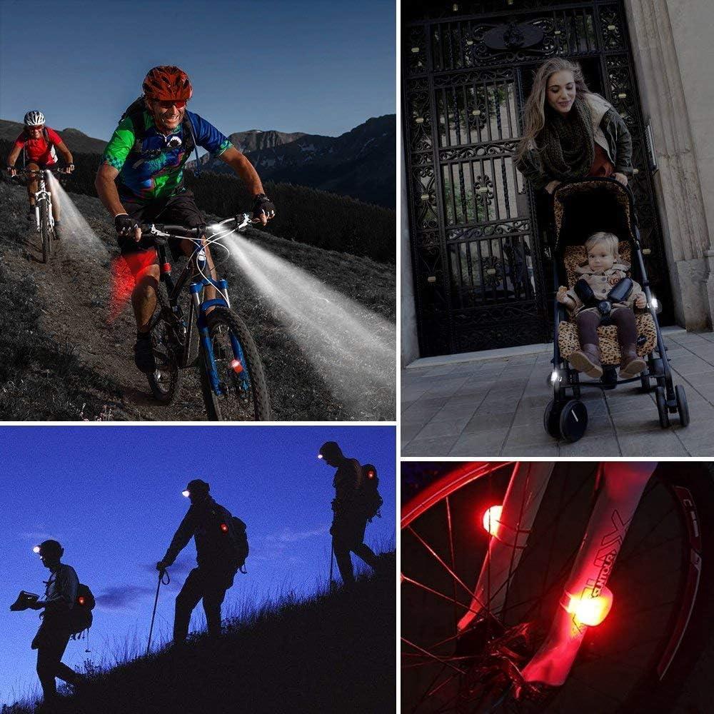 BPOOR Led Lampe Licht Sicherheitslicht Led Kinderwagen,Sicherheitslicht LED Kinderwagen Set Silikon Leuchte Kinderwagen 4 St/ück Kinderwagen Blinklicht Taschenlampe