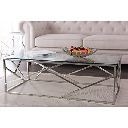 Wholesale Interiors Baxton Studio Coffee Table With Tempered Glass Top