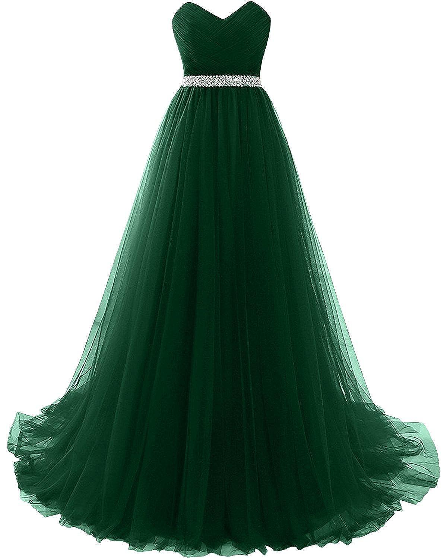 CoutureBridal® Damen Kleid Lang A-Linie Abendkleider Abschlussball ...
