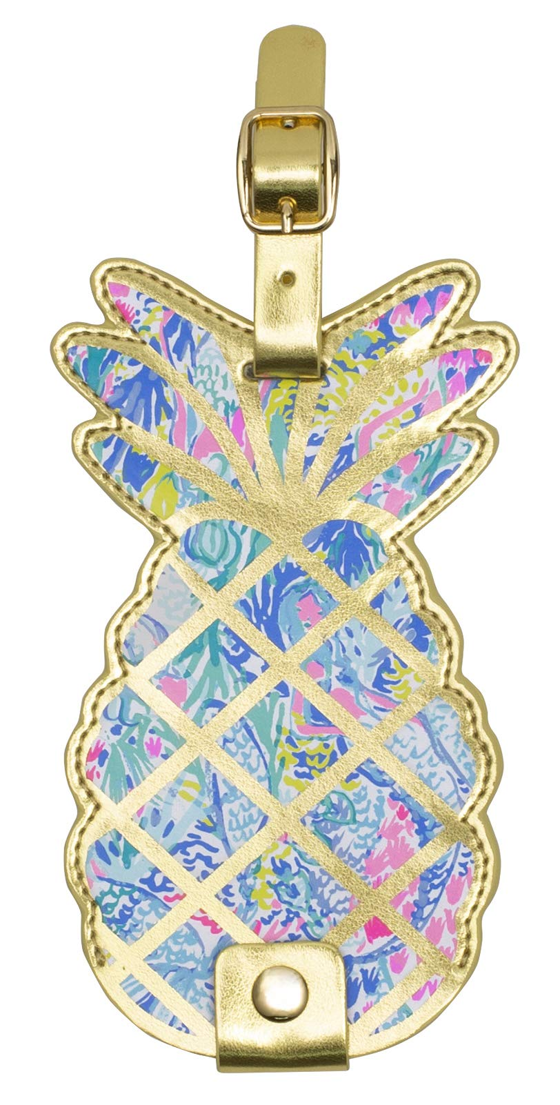 Lilly Pulitzer Women's Leatherette Luggage Tag with Durable Strap, Mermaids Cove