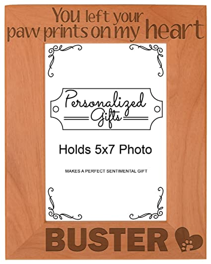 Amazon.com - Personalized Pet Memorial Picture Frame You Left Your ...