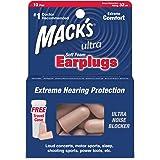 Mack's High Performance Ultra Soft Foam Earplugs - Pack of 10 Pairs