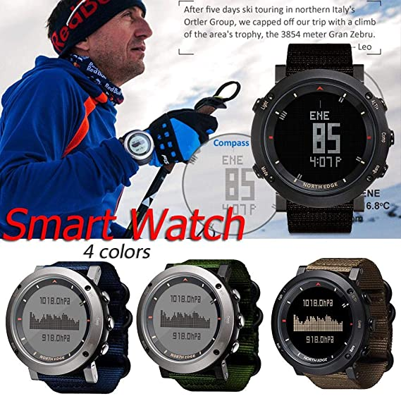 Unisex Health Fitness Smart Watch Relojes deportivos digitales Led Back Light para NORTH EDGE Reloj deportivo