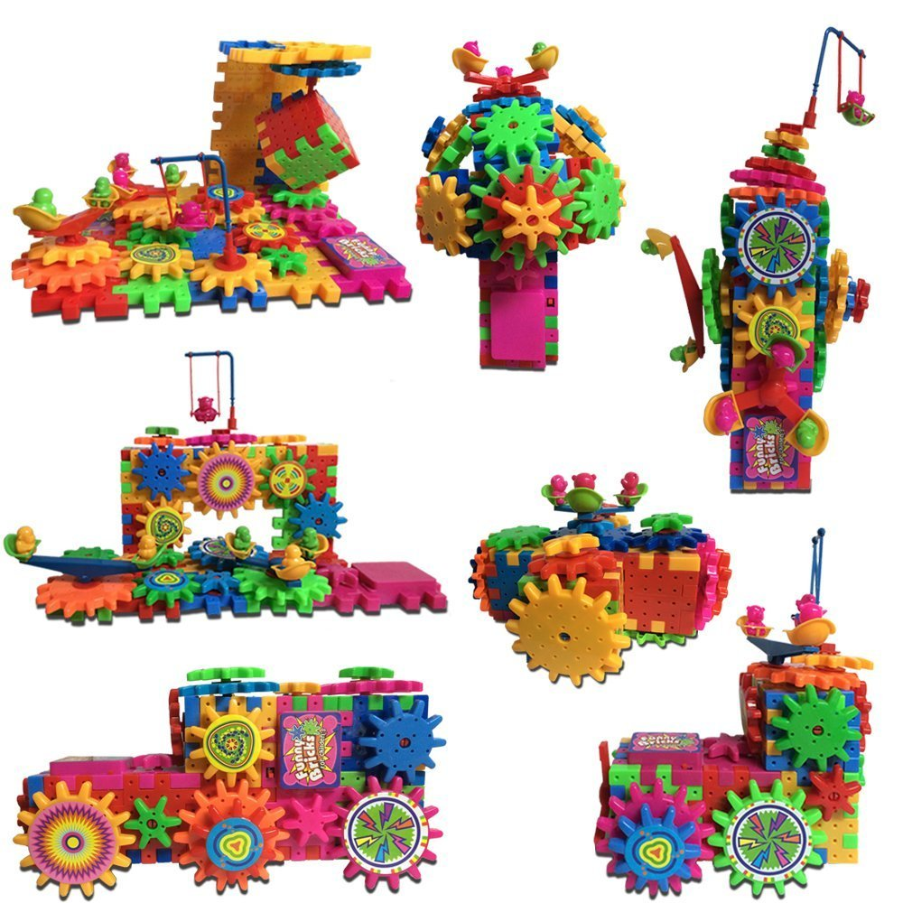 81 Piece GEARS Building Toy Set 3D Puzzle SAFER and more DURABLE then other brands
