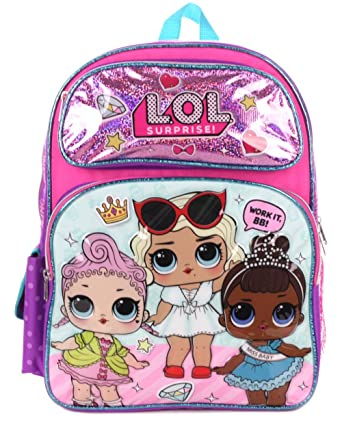 L O L Surprise School Bag For Girls Pink Backpack Lol Dolls