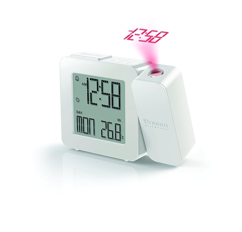 Oregon Scientific PROJI Radio Controlled Projection Clock with Indoor Temperature, Grey RM388