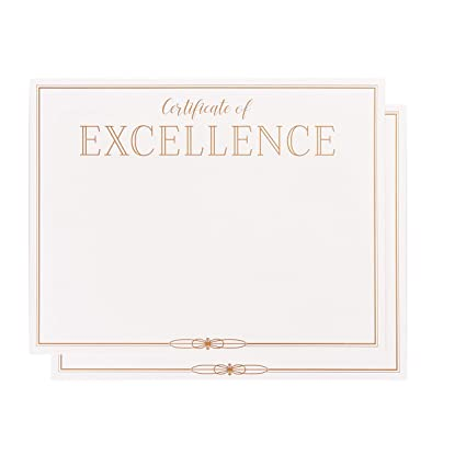 Amazon.com : Certificate Papers - 48-Pack Certificate of Excellence ...