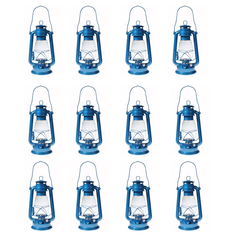 Shop4Omni S4O Hanging Hurricane Lantern/Elegant Wedding Light/Table Centerpiece Lamp - 12 Inches (12, Light Blue)