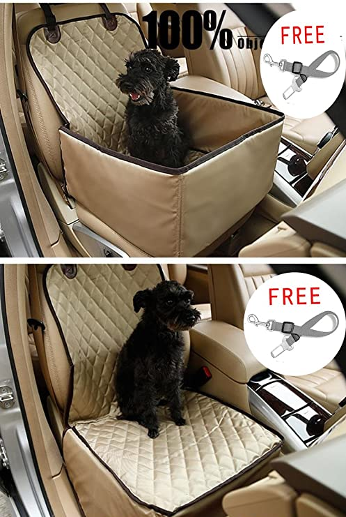 Amazon Com Dog Car Seat Cover Pet Booster Seat C D Deluxe 2 In 1
