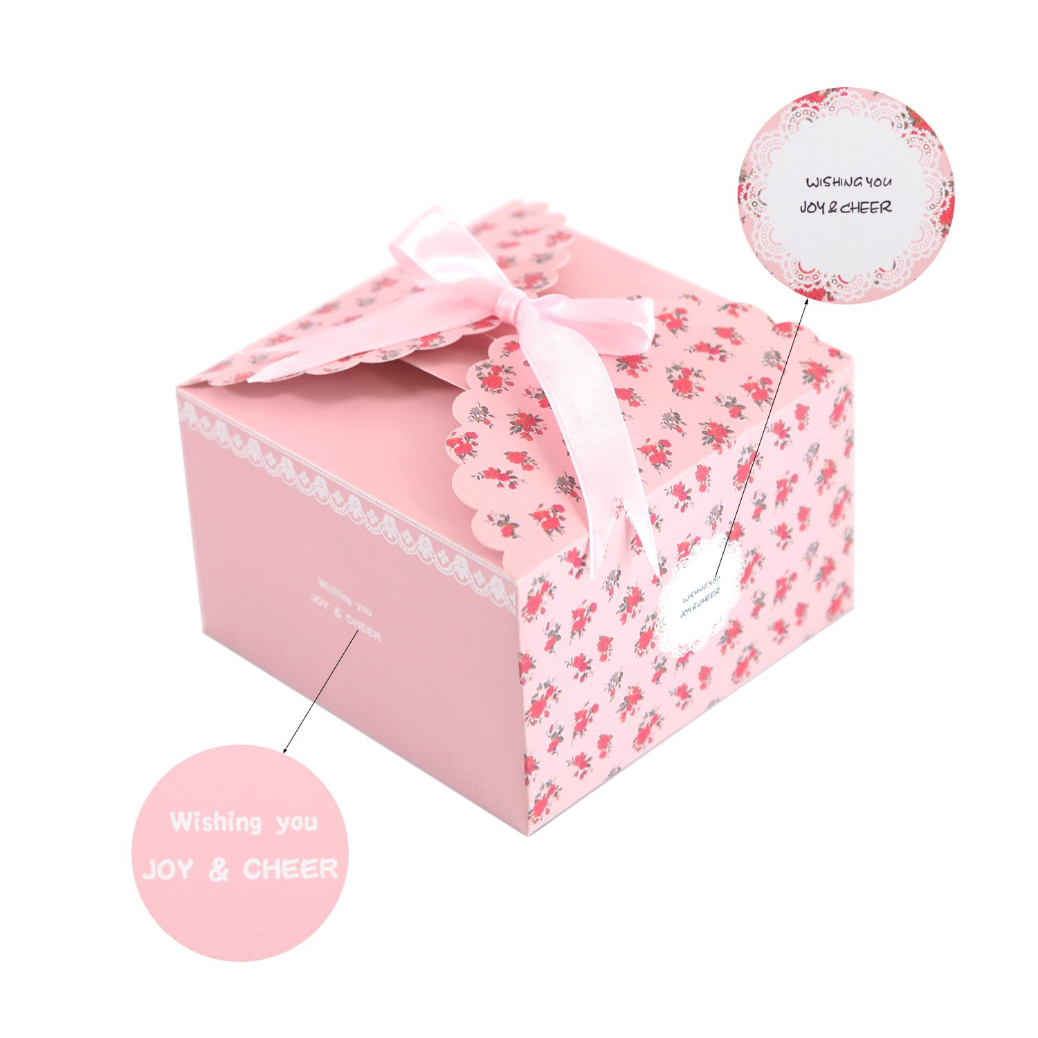 Amazon.com: MissShorthair Gift Boxes,12 Pack Floral Decorative Boxes ...