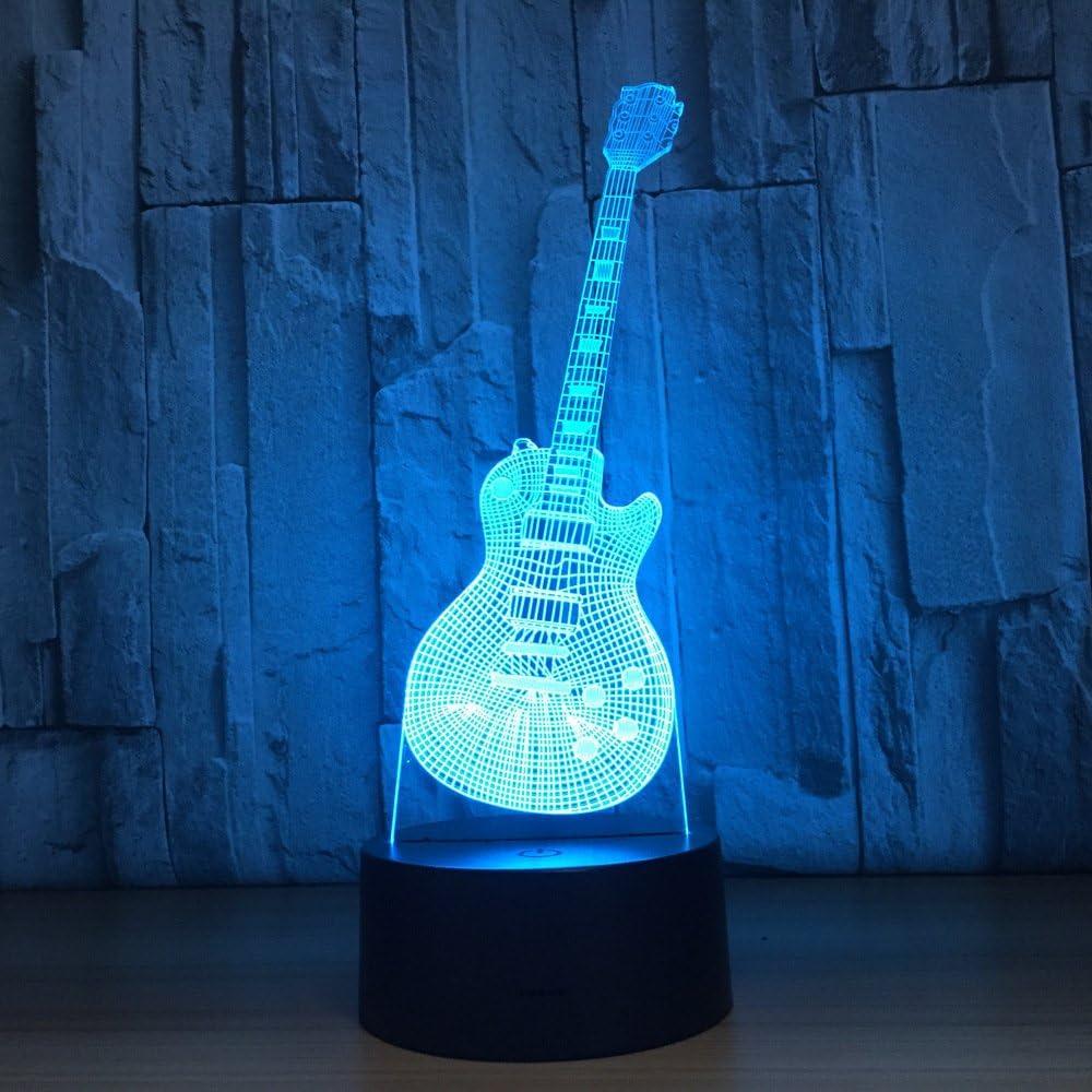 Nueva Forma de Guitarra lámpara de luz Nocturna lámpara de Noche ...