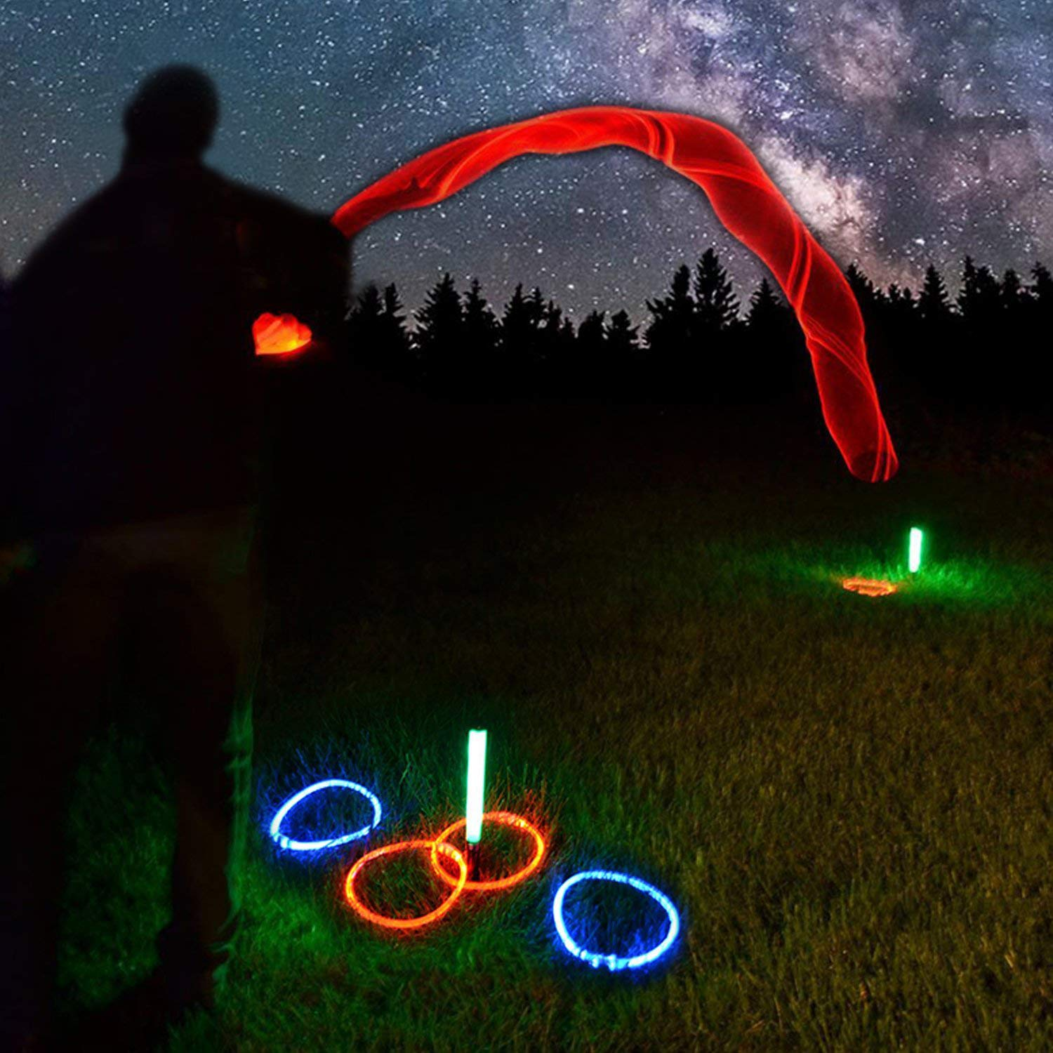 GlowCity Light Up LED Ring Toss Game - by by GlowCity