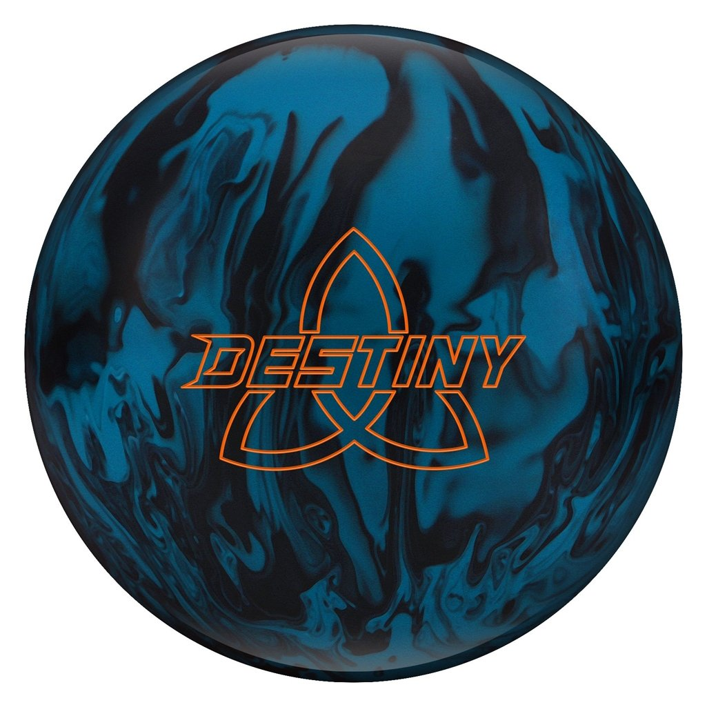 Ebonite Bowling Destiny Solid Ball, Blue/Black, Size 10