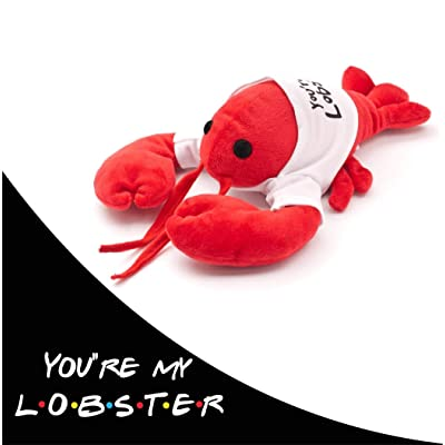 "Cool TV Props Friends You're My Lobster Plush Friends Lobster Stuffed Animal Plush – Ross Geller Rachel Green Lobster Stuffed Animal in Cute White T-Shirt – 8"" (20cm) Head to Tail, 6"" (15cm) Claw to: Toys & Games"