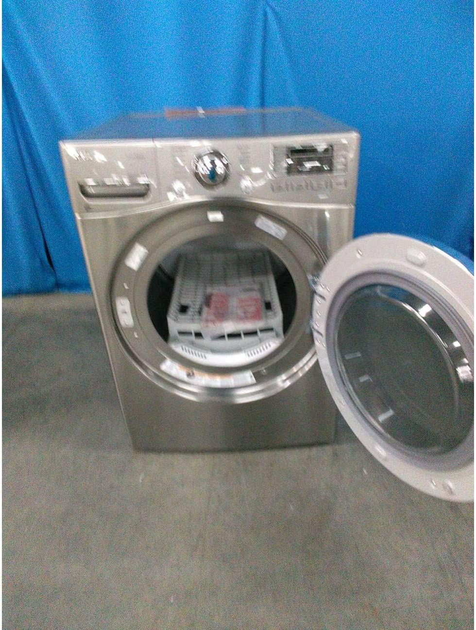 Graphite Steel Electric SteamDryer with NFC Tag On Ft LG DLEX3570V 7.4 Cu