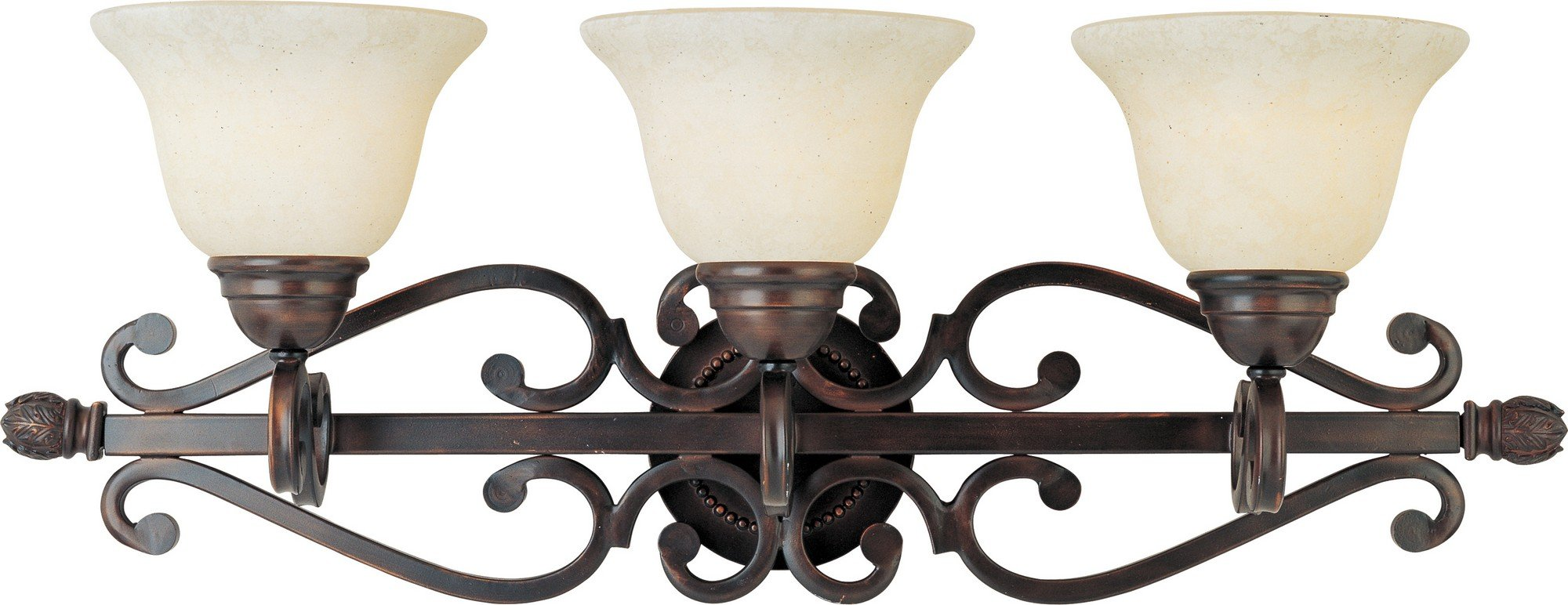 Maxim Lighting 12213FIOI Manor 3-Light Bath Vanity, Oil Rubbed Bronze with Frosted Ivory Glass by Maxim Lighting