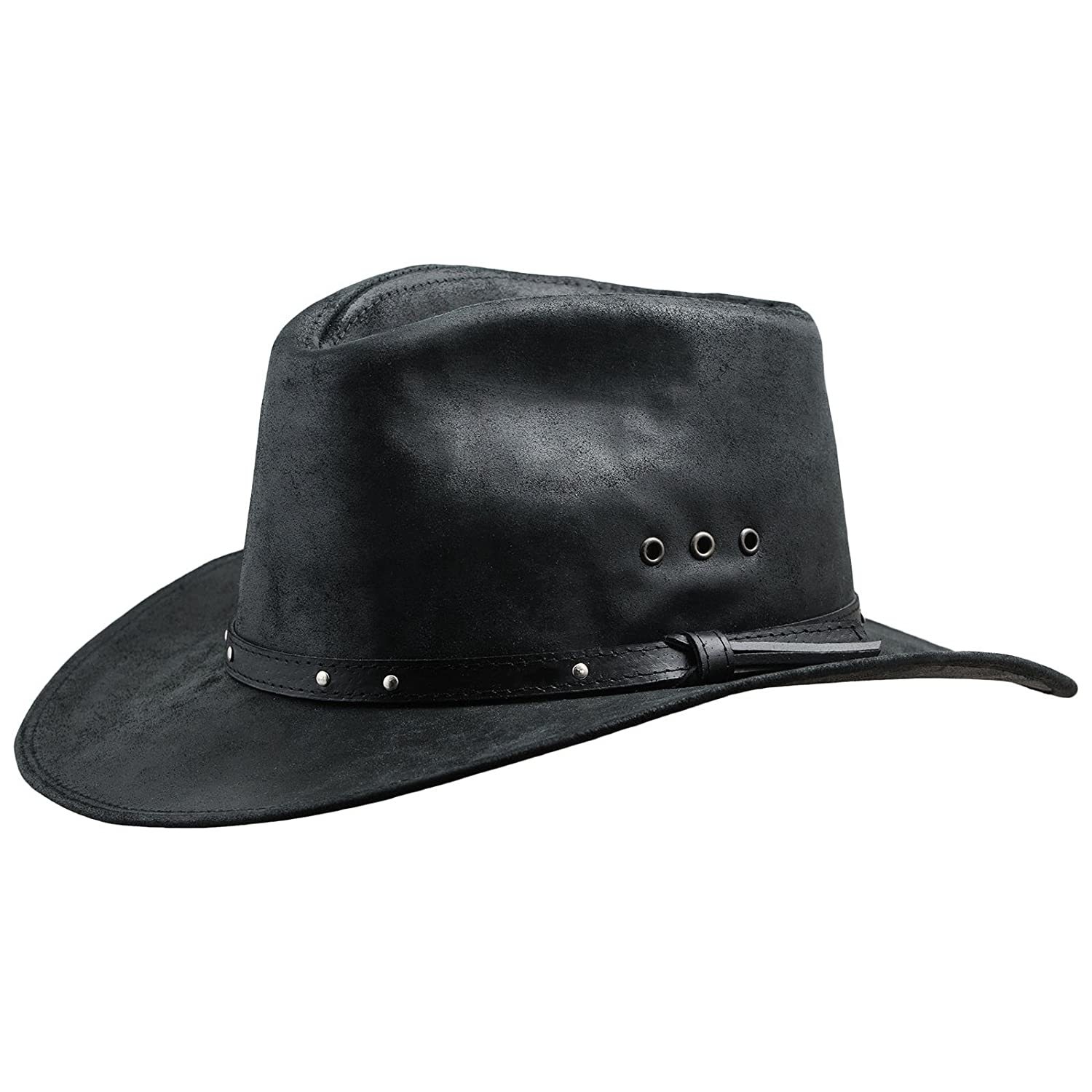 Sterkowski Cattle Leather Classic Western Cowboy Outback Hat WTL-KWB-Sv2US 8 1/8 $P