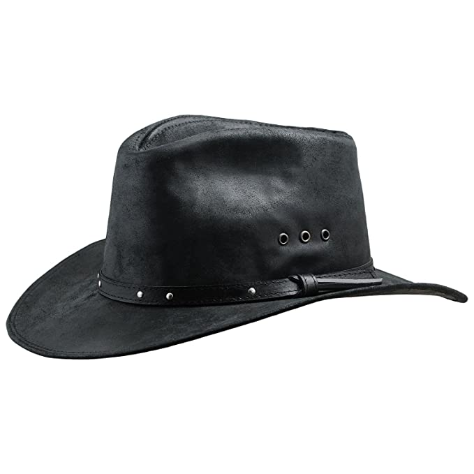 37a582415eb Sterkowski Cattle Leather Classic Western Cowboy Outback Hat WTL-KWB-Sv2US  8 1 8  P