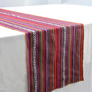 Marvelous Zdada Mexican Blanket Table Runner 14X108 Packs Of One For Mexican Fiesta Themed Birthday Dinner Party Download Free Architecture Designs Intelgarnamadebymaigaardcom