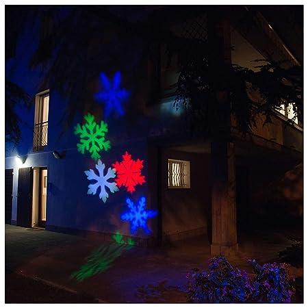 Holyart Proyector LED Copos de Nieve Coloreados Interior y ...