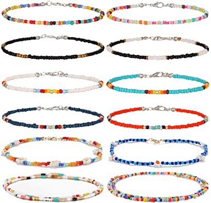 Sunflower yellow Beaded Anklets Mothers day gift Women Ankle Bracelet Bronze Bead spacer Everyday wear anklets Pleasant look