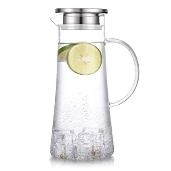 SUSTEAS 51 Oz Glass Pitcher