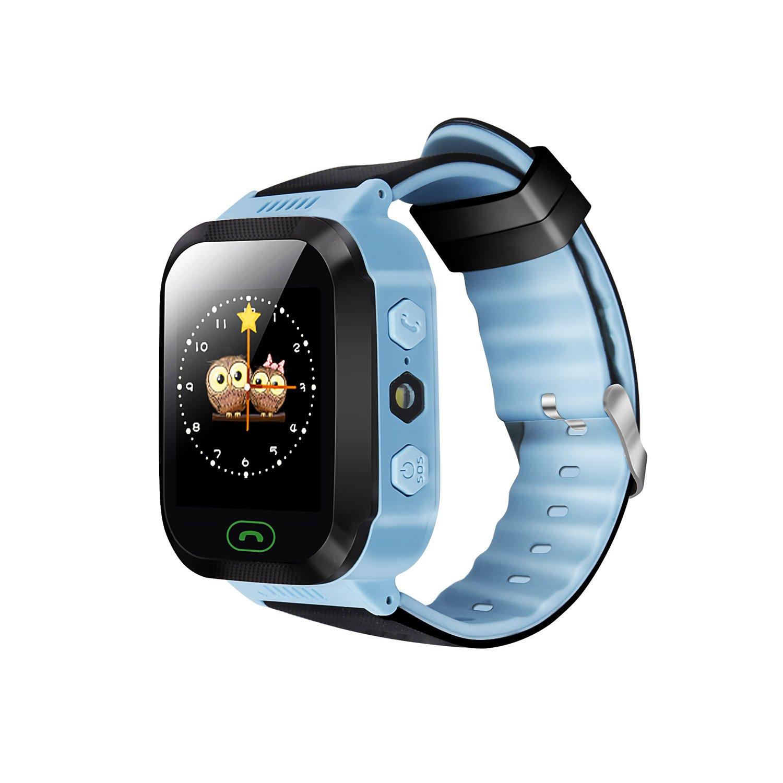 Yongkaida Smart Watch niños Smartwatch Touch Pantalla Linterna Remoto Monitor GPS SIM Tarjeta Soporte SOS Emergencia Llame Anti-perdida Proteger para ...