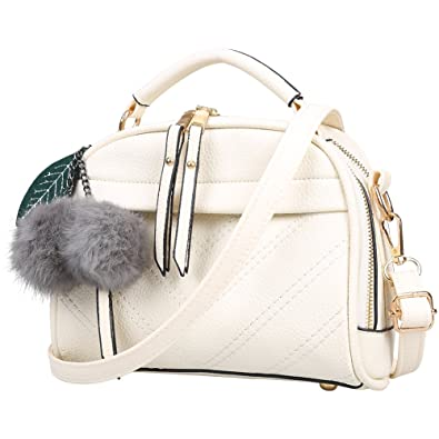 68fa789873ab Amazon.com  Fantastic Zone Women Leather Handbags Shoulder Bags Top-handle  Tote Ladies Bags  Shoes