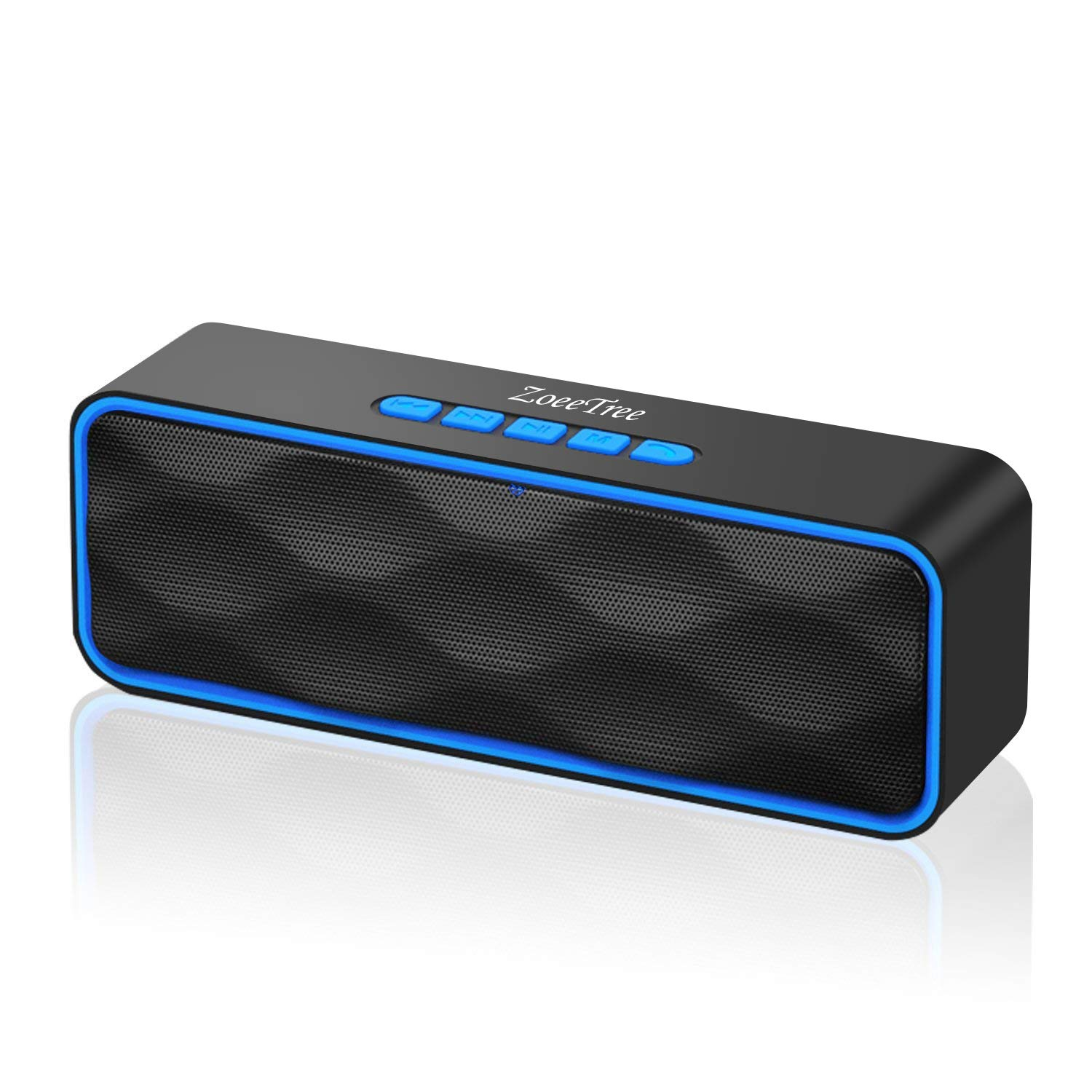 ZoeeTree S1 Wireless Bluetooth Speaker, Portable V4.2+EDR Stereo Speakers with Loud HD Audio and Bass, Built-In Mic, FM Radio, 12H Playtime by ZoeeTree