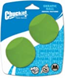 Chuckit!  Erratic Ball Dog Toy, 6.5 cm, Medium, 2-Piece