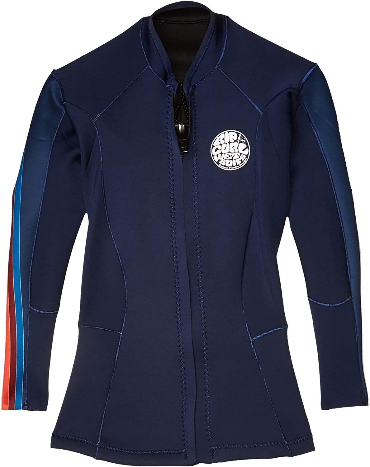Rip Curl Womens Dawn Patrol 1.5mm Neoprene Wetsuit Coat Jacket - Stripe - Easy Stretch - Made Using 1-1.5mm Thickness