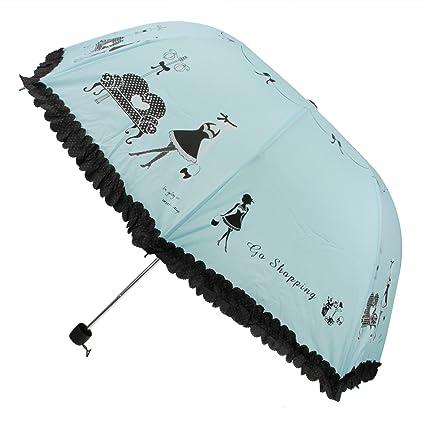 Paraguas plegable mujer resistente al viento sólido irrompible clásico plegable de viaje paraguas de viaje cortavientos