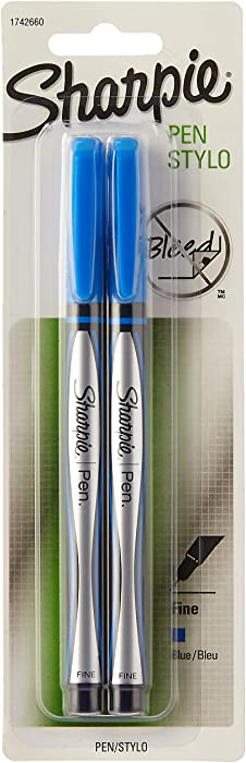 Sharpie Pen Fine Point Pen, 2 Blue Pens (1742660)