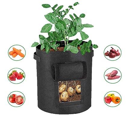 Amazon.com: 10 bolsas de cultivo de patata de galón ...