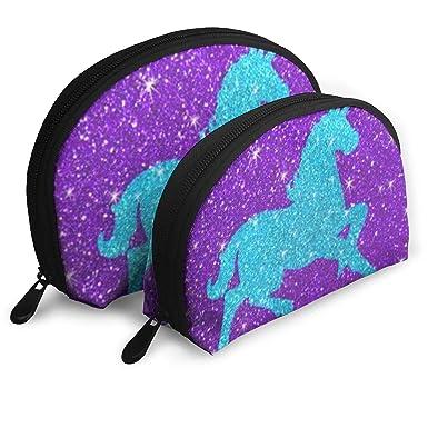 Amazon.com: Bolsa de cosméticos con purpurina morada para ...