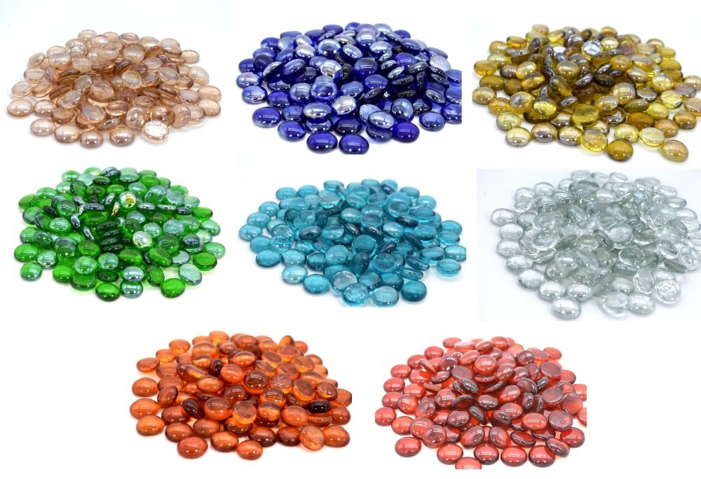 Glasnuggets Glassteine Muggelsteine Mosaiksteine Streudeko Tischdeko