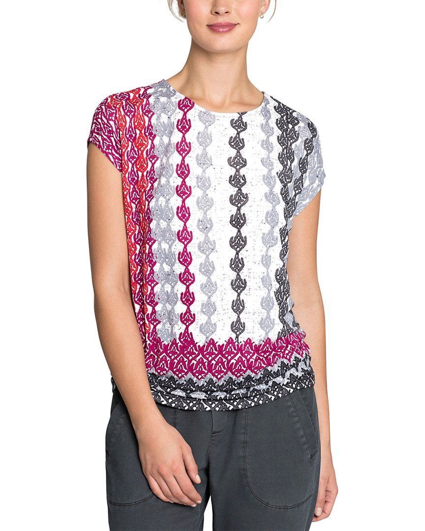 NIC+ZOE Women's Stained Glass Top Multi X-Large