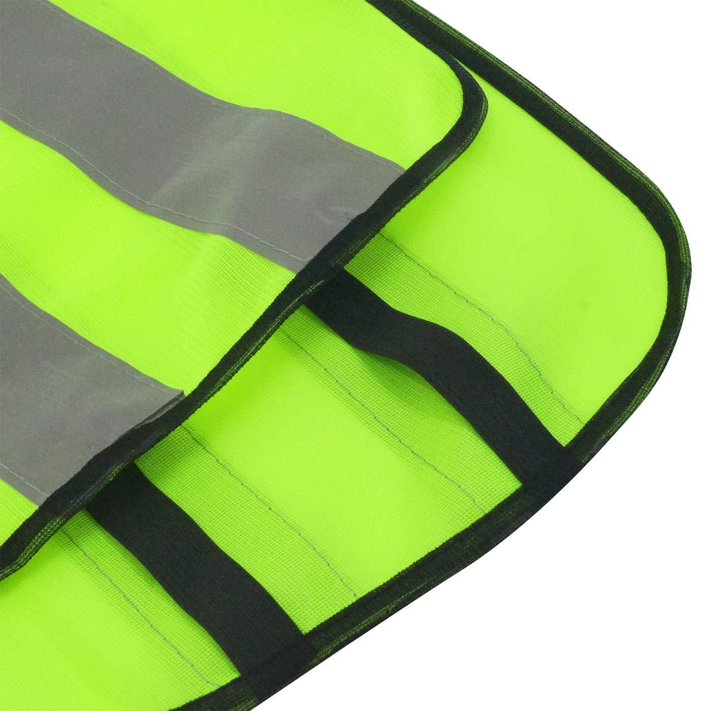 AIEOE 20 Pcs Enfant Gilet Fluorescent de S/écurit/é Durable Veste Haute Visibilit/é sans Manches Fille Gar/çon Gilet R/éfl/échissant V/élo Running Randonn/ée Gilet Fluo Vert