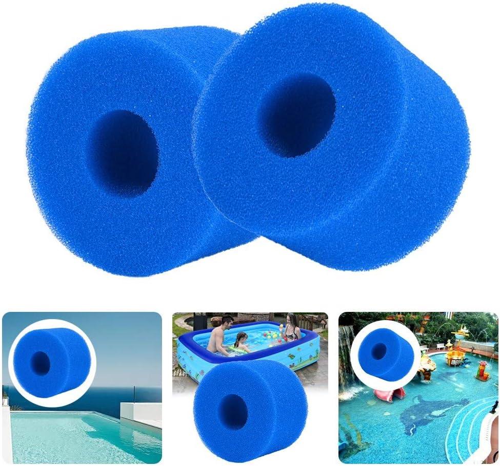 Lifreer - Cartucho de filtro de espuma reutilizable lavable para bañera de hidromasaje tipo Intex S1 (2 unidades)
