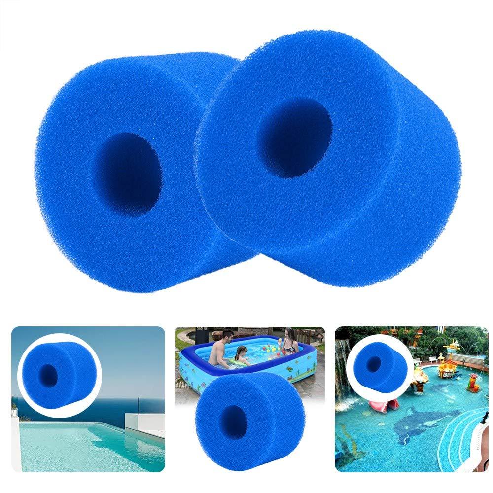 Lifreer 2PCS Filter Cartridge Sponge Washable Reusable Swimming Pool Filter Sponge Foam Sponge Cartridge for S1 Type